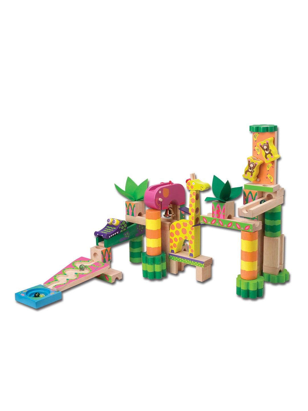 Jungle Marble Maze Build It Marble Maze Alex Toys Wooden Marble Run
