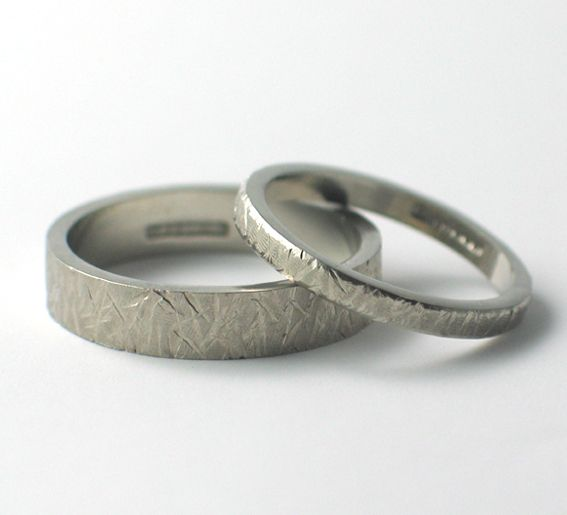 textured wedding rings wwwfluidity designcouk - Design A Wedding Ring