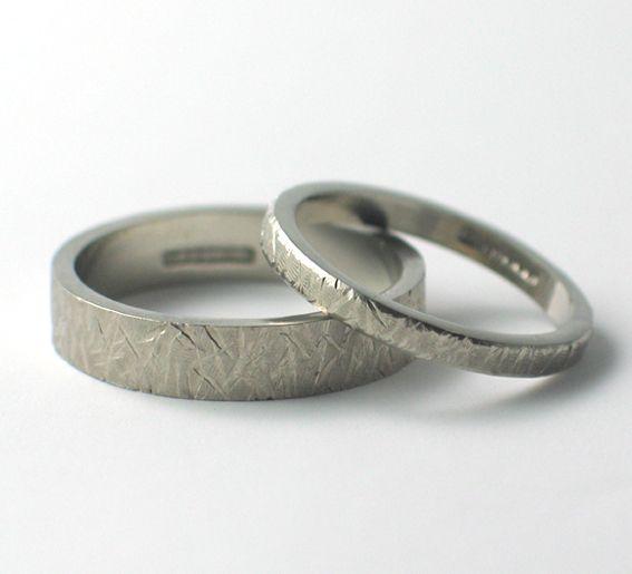 textured wedding rings wwwfluidity designcouk