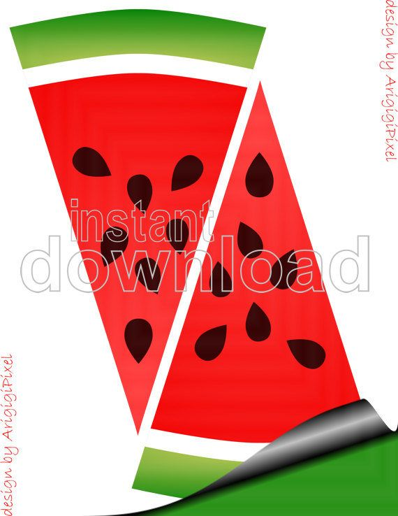 #Watermelon #Happy #Birthday #Banner   - Made of slices of watermelon is perfect for summer parties, kids birthdays...  - #Printable #decorative #garland in red and green is easy to #download.  Your special party guests will enjoy!  Especially the person being honored at a celebration!