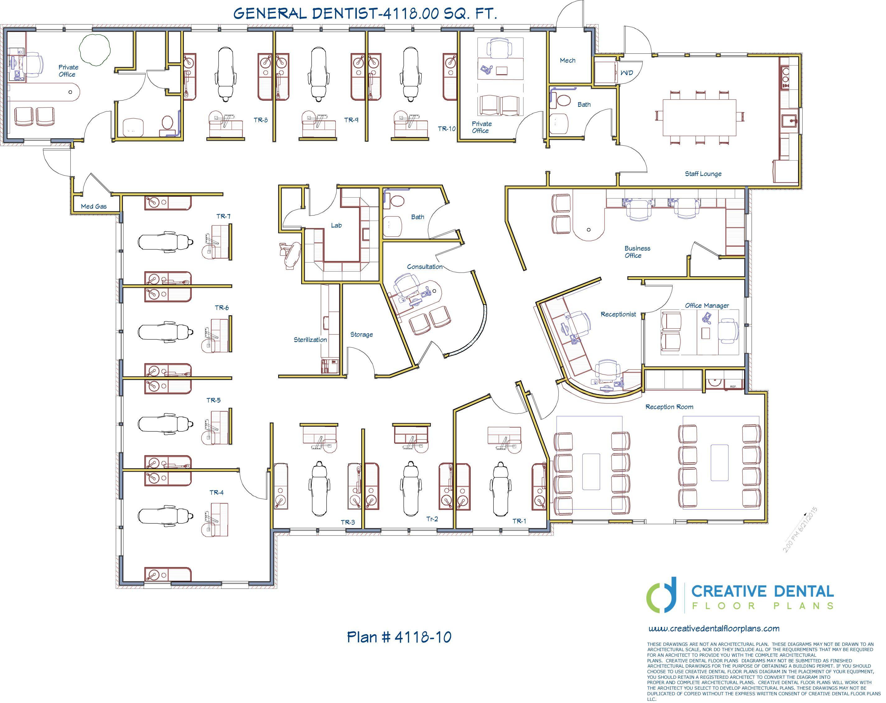 2 D Floor Plans For Dental Office Floor Plans Office Floor Plan Medical Clinic Design