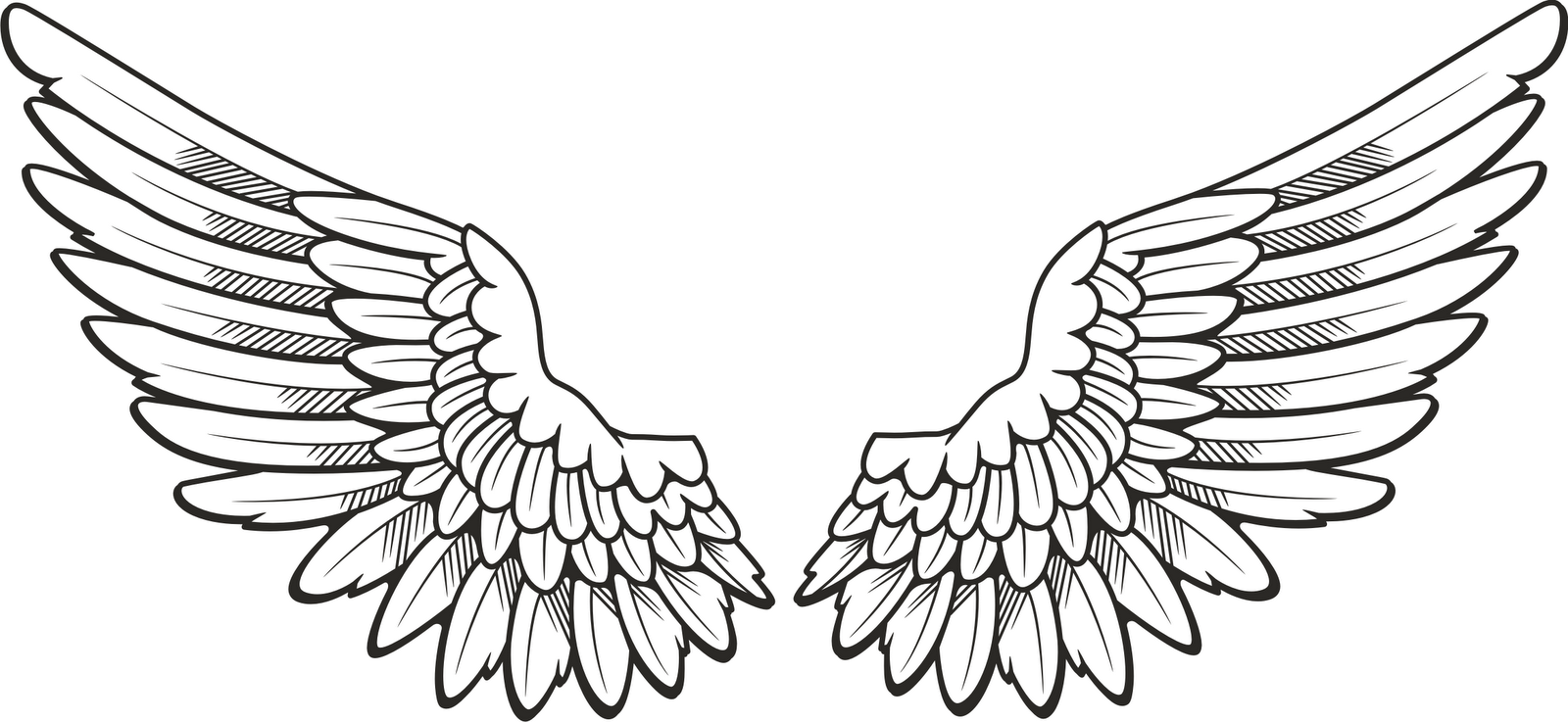 Pin By Maggienicki On Aesthetic Angel Wings Clip Art Wings Tattoo Wing Neck Tattoo