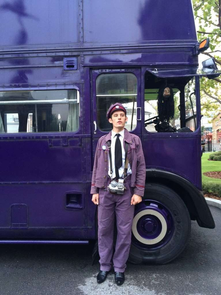 Stan Shunpike Is There To Greet You At The Knight Bus In Muggle London And Wizarding World Of Harry Potter Harry Potter Universal Studios Harry Potter Travel