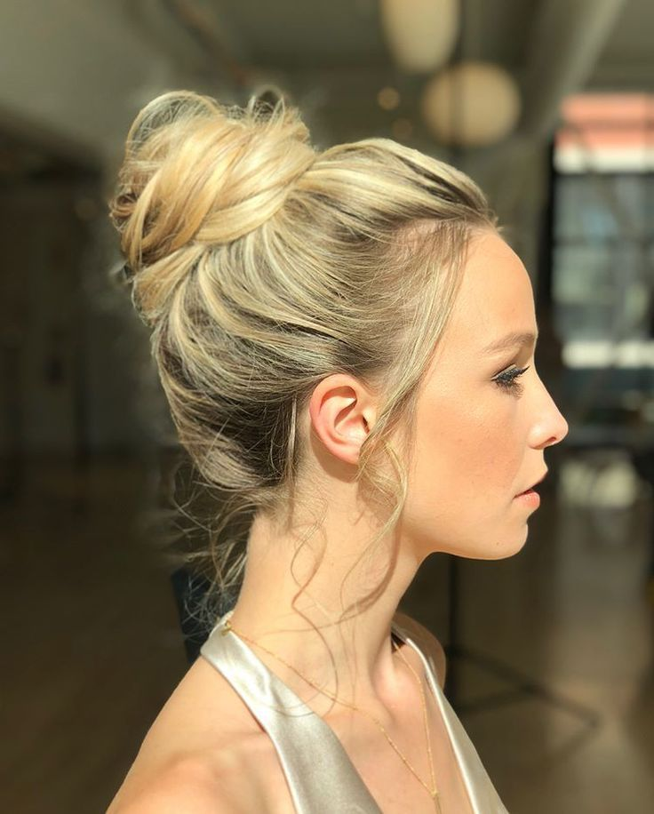 Artfully Messy High Bun Hairstyle By Goldplaited Prom Hair Prom Hairstyle Beauty Updo Homecom High Bun Hairstyles Short Hair Bun Messy Wedding Hair