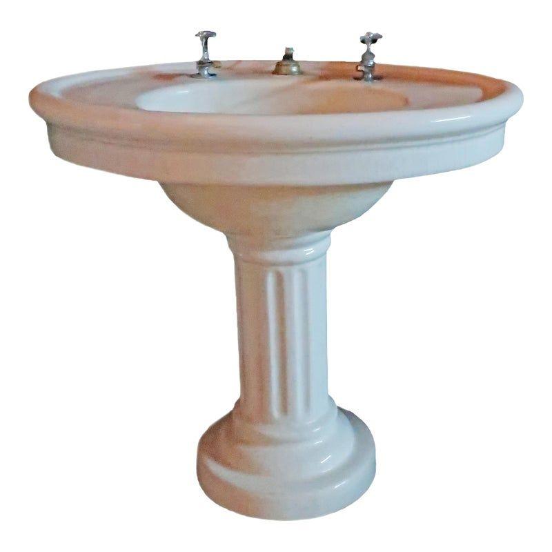 Photo of Vintage pedestal wash basin, circa 1900s