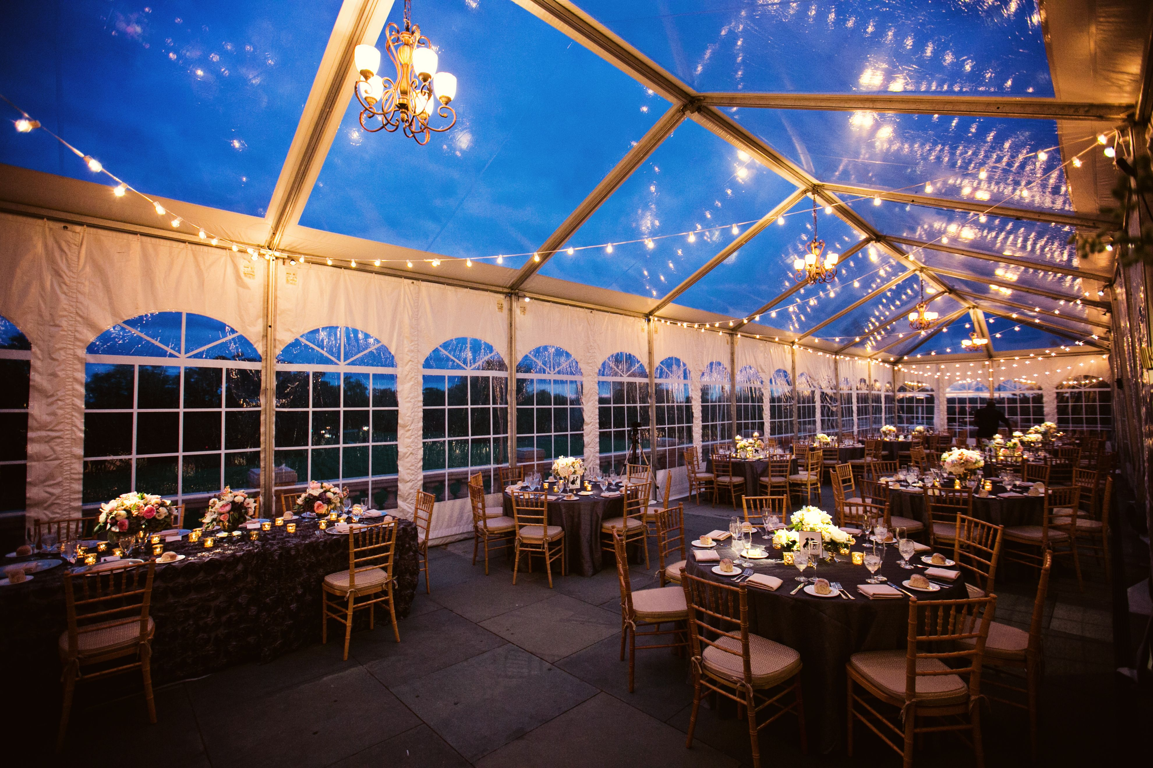 Italian cafe bistro string lighting in a clear-top tent as well as pin & Italian cafe bistro string lighting in a clear-top tent as well ...