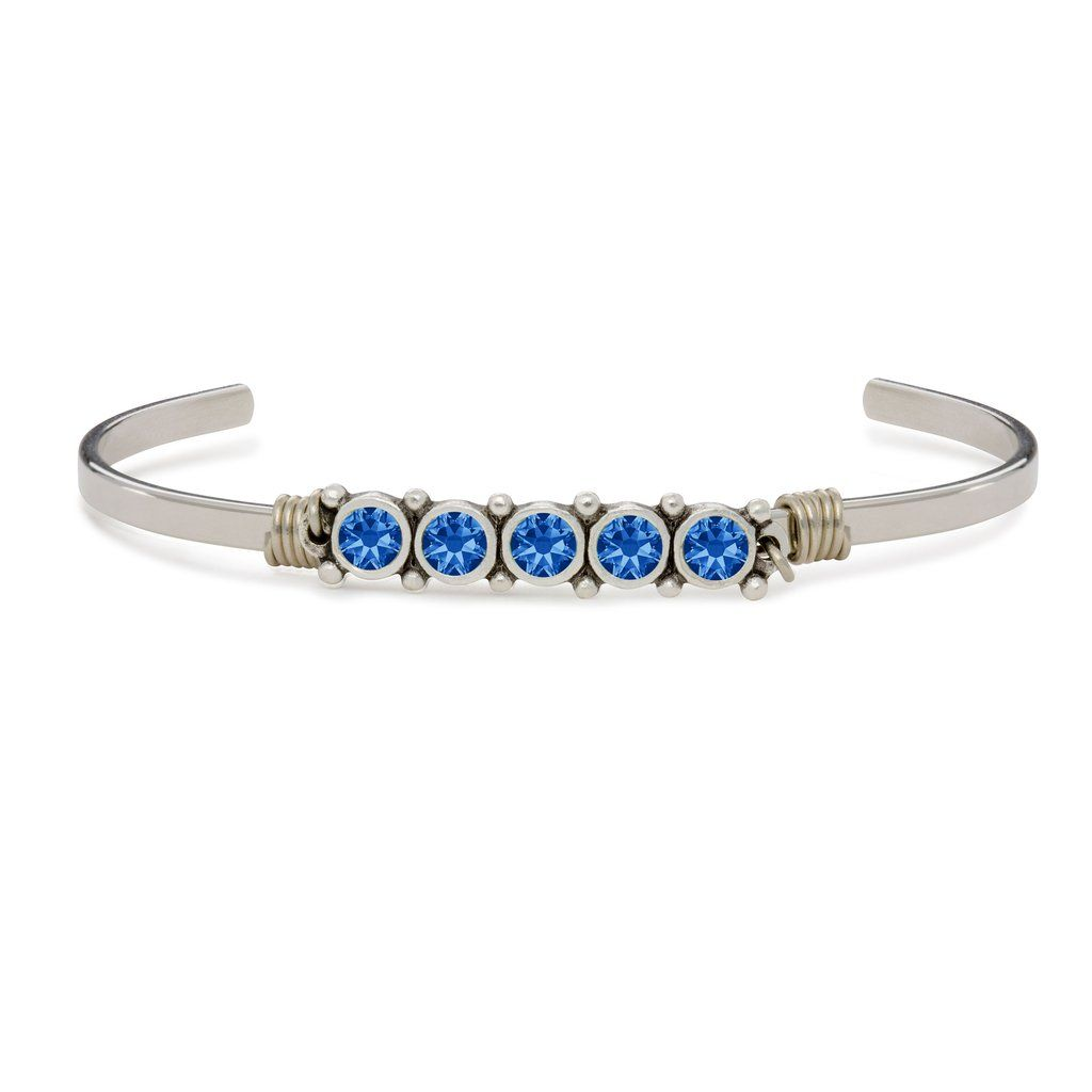 September Birthstone Cuff Bracelet