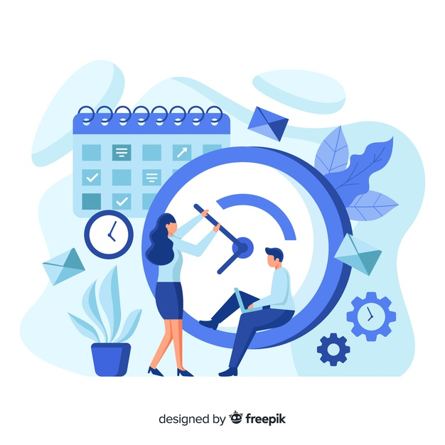 Telechargez Concept De Gestion Du Temps Pour La Page De Destination Gratuitement Website Illustration Graphic Design Background Templates Business Illustration