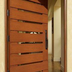 Modern entry door.