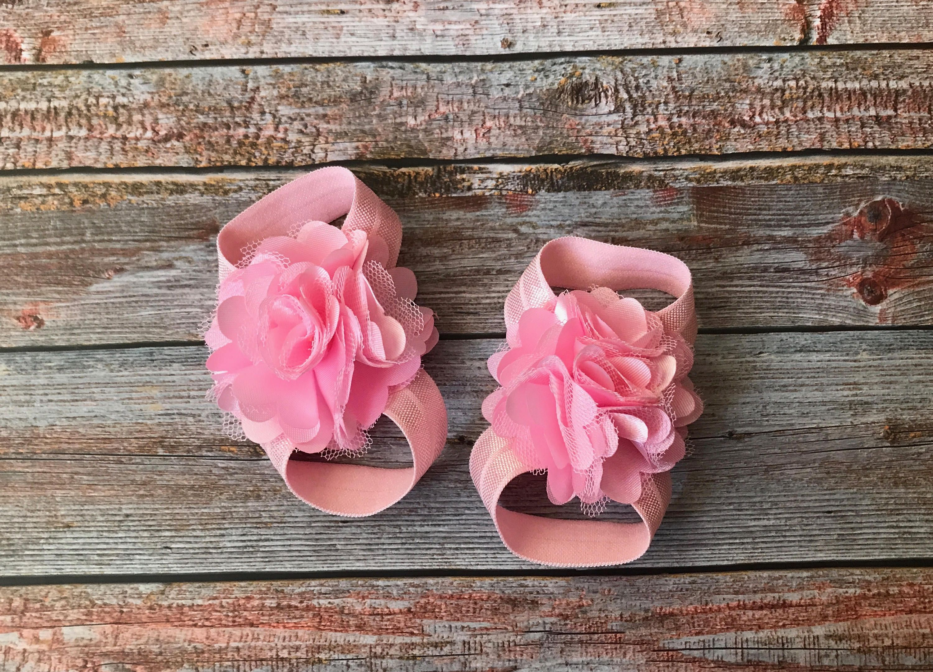 Pink Barefoot Sandals/Baby Barefoot