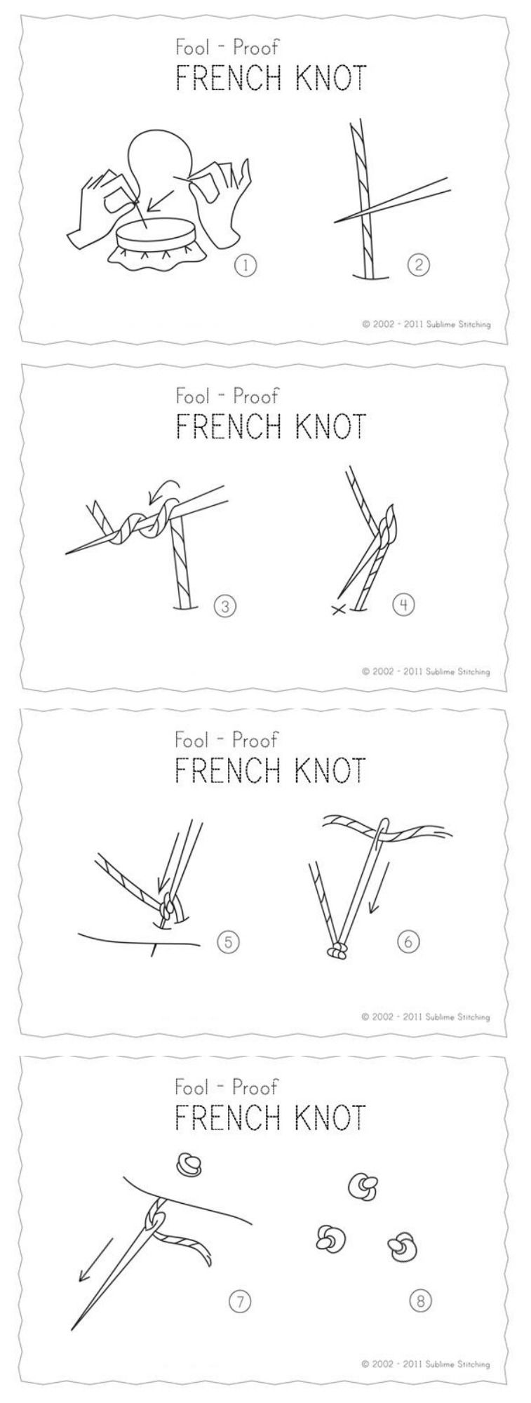 How to make a perfect French Knot. #Embroidery #tutorial #