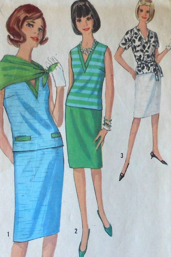 Vintage Two Piece Dress Sewing Pattern