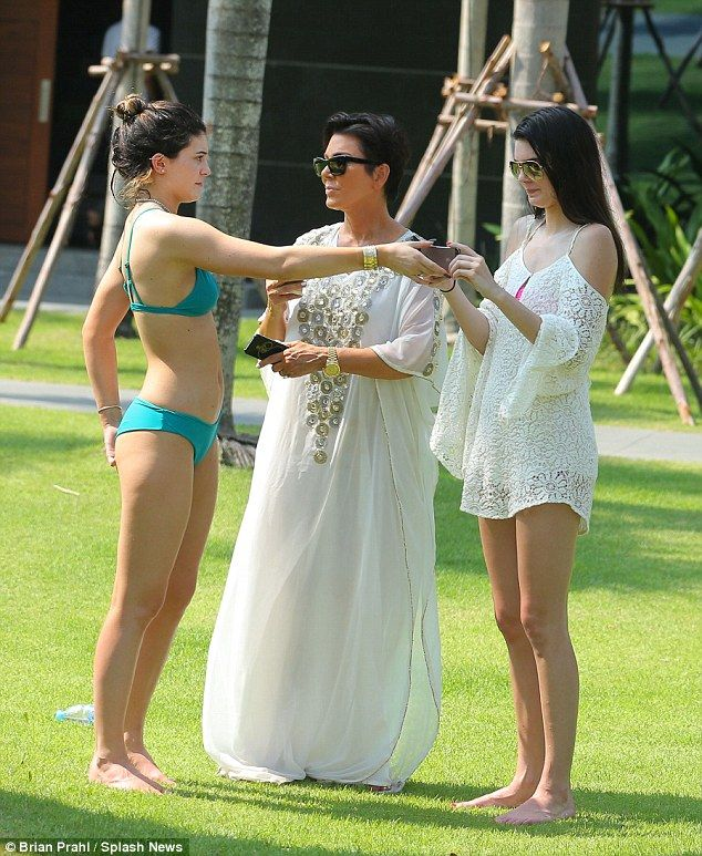 Kris Jenner Snaps A Selfie With Baby Elephant On Thai