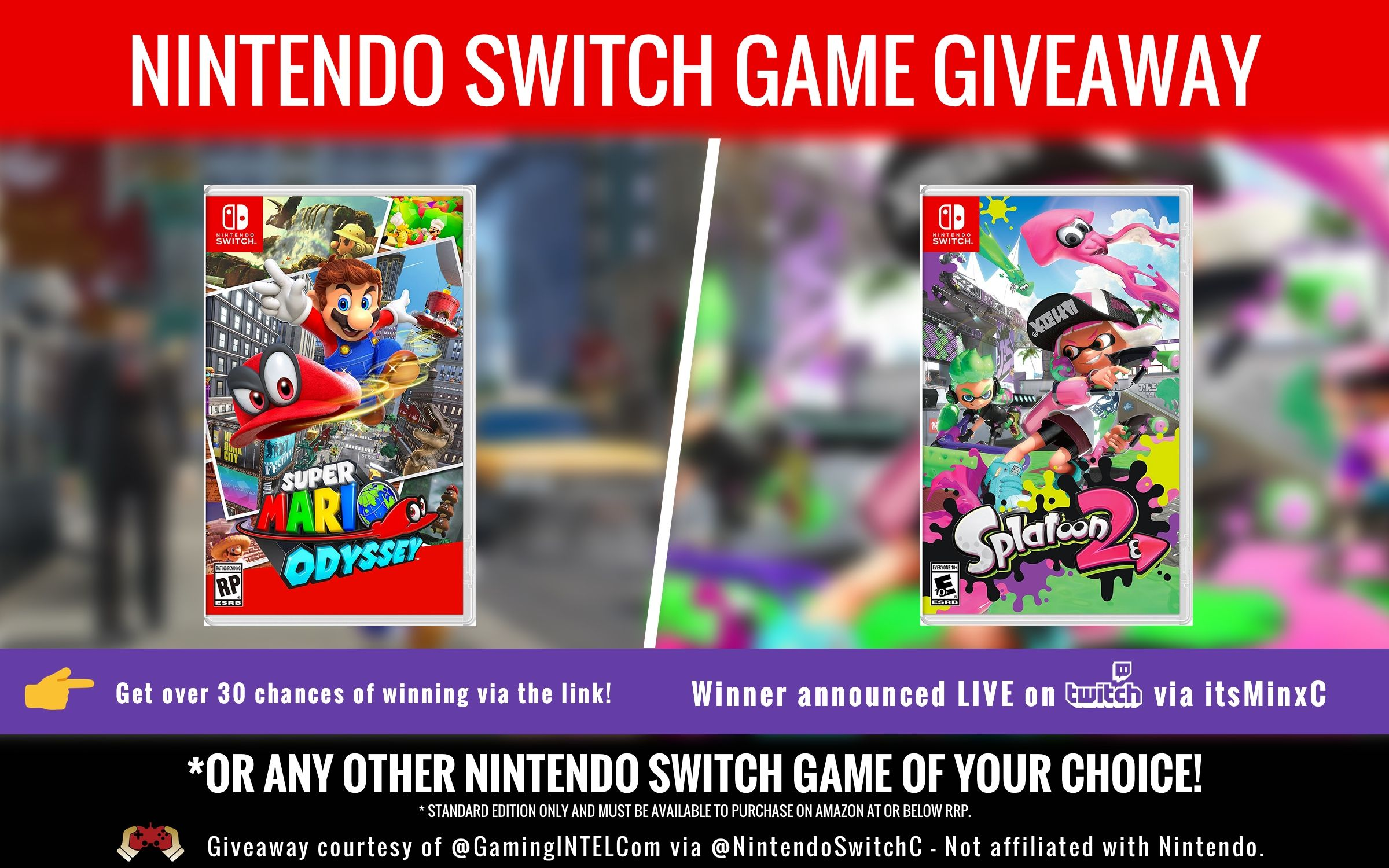 Help Me Win This Awesome Competition From Gaming Intel Game Giveaway Nintendo Switch Games Giveaway