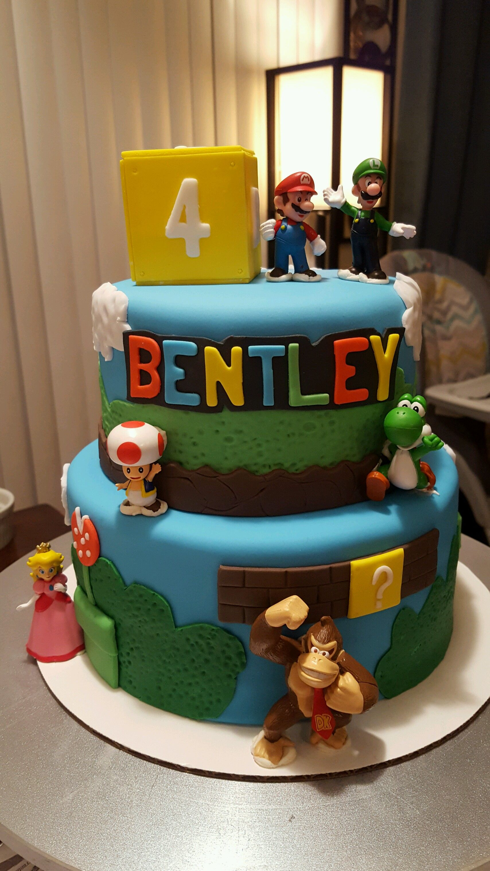 Mario Cake Bentleys 4th Birthday Pinterest Mario Cake Super