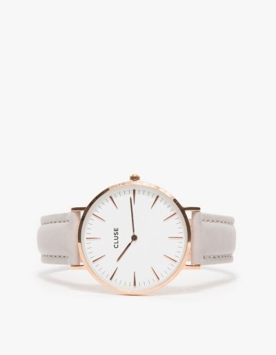 Christmas Gift Ideas for Women   rose gold watch with leather wristband, via @sarahsarna.