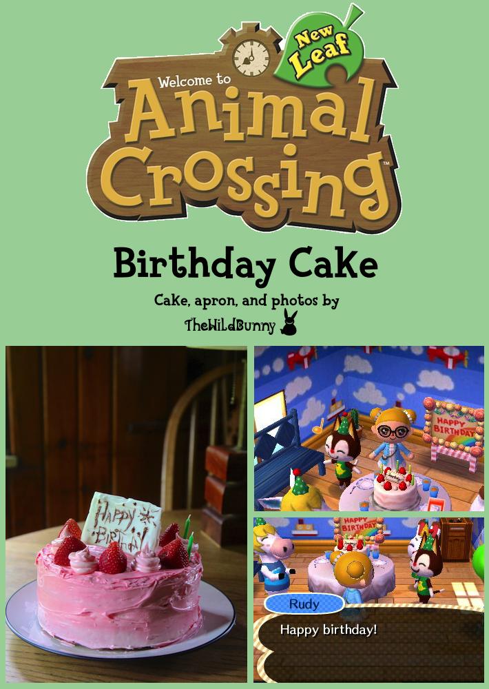 Groovy Animal Crossing New Leaf Birthday Cake With Images Animal Personalised Birthday Cards Veneteletsinfo
