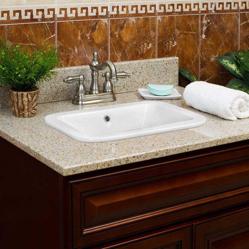 American Imaginations 22 In Drop In Deck Mount Faucet Vessel Sink