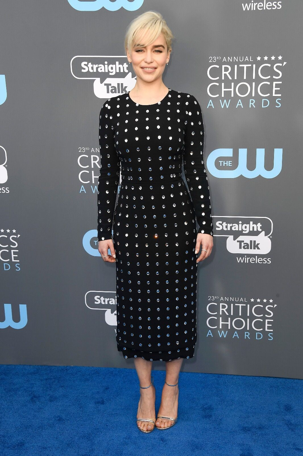 Actress Emilia Clarke, face of The One Eau de Toilette fragrance, wore Dolce&Gabbana for the Critic's Choice Award event in California. #DGWomen #DGCelebs #DGBeauty #DGTheOne