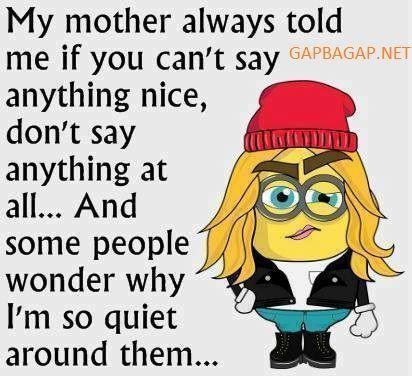 Funny Minion Quote…