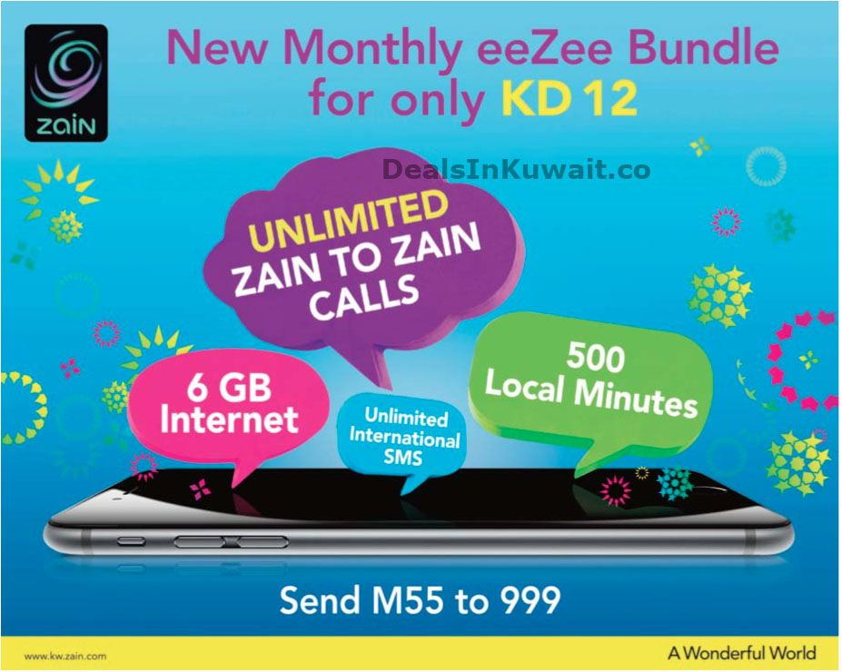 Zain Kuwait: New Monthly eeZee Bundle for only KD 12 – 25