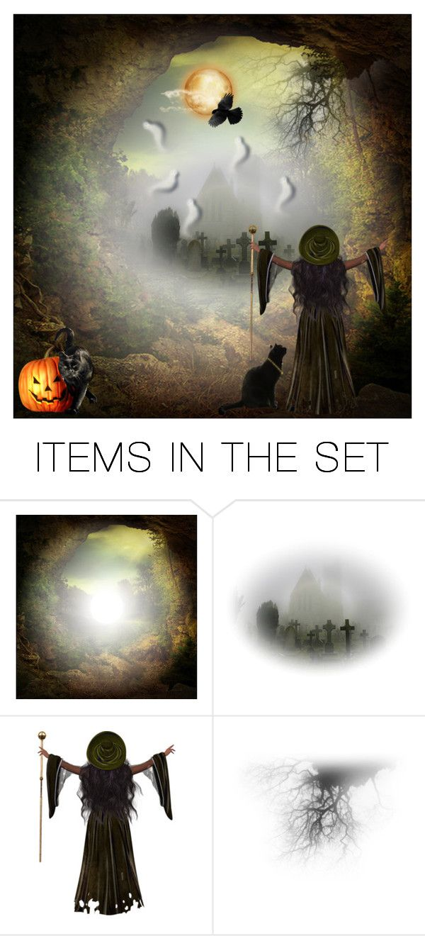 """""""HALLOWEEN"""" by kmaryk ❤ liked on Polyvore featuring art and AmiciMei"""
