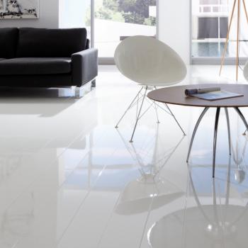 White Laminate Flooring, White Waterproof Laminate Flooring