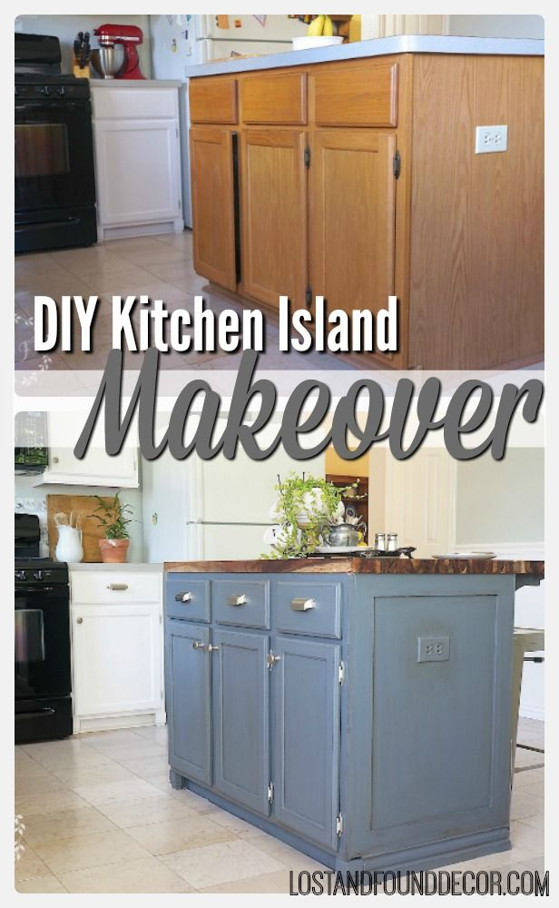 Painting the Island DIY Kitchen Island Makeover