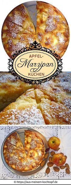 Apfel Marzipan Kuchen Oder Auch Apfelkuchen Mit Marzipan Kuchen