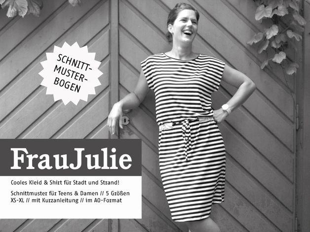 Kleider & Schürzen - FrauJULIE – cooles Kleid & Shirt, Schnittm... - ein Designerstück von schnittreif bei DaWanda