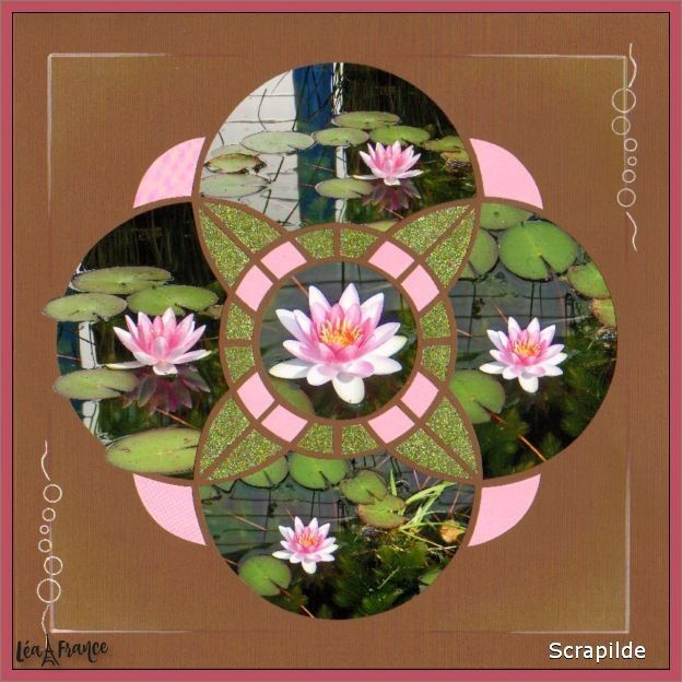 Water Lily Stencil Black And White: Stencils, Scrapbooking Layouts, Scrapbook