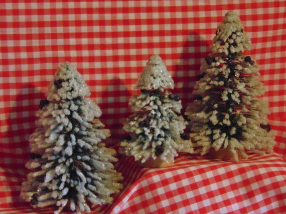 Flocked Christmas Tree Table Topper by Minniessimplechristm, $6.99
