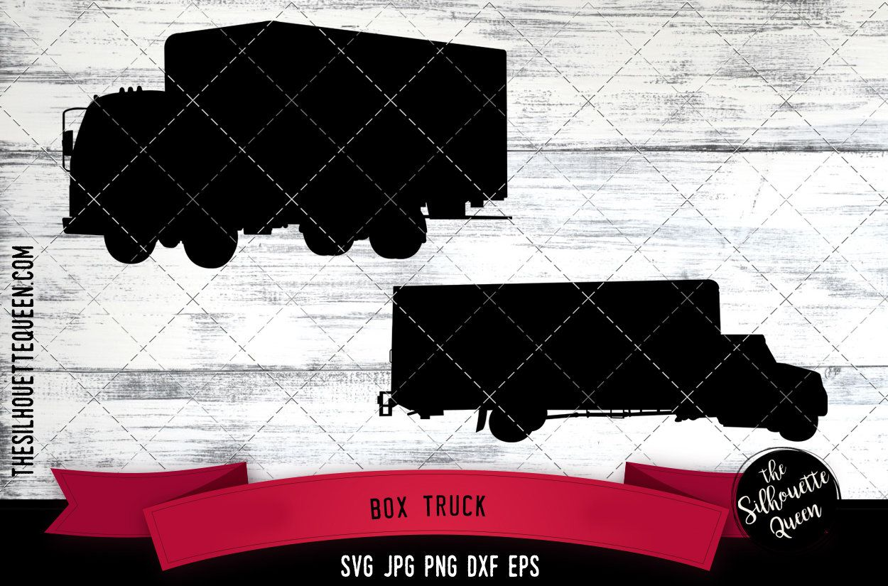 Box Truck svg box van svg cube van svg bob truck svg cargo