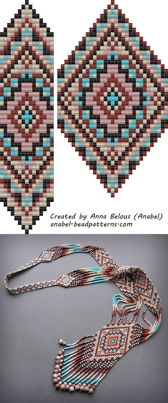 Free Bead Patterns Split Loom Necklace Beadwork