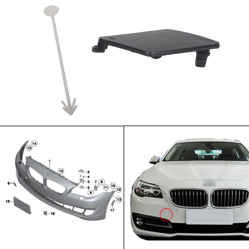 For Bmw F10 F18 520i 535i 2010 2014 Car Front Bumper Tow Hook Eye