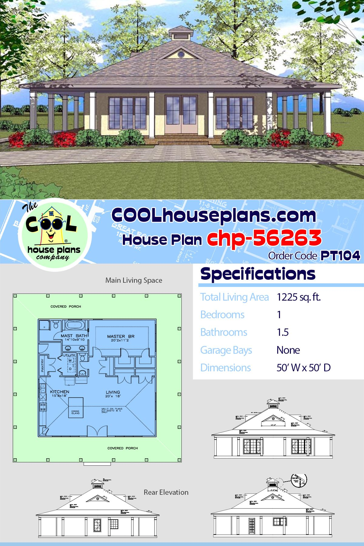 Southern Style House Plan 72364 With 1 Bed 2 Bath Pool House Plans Cottage House Plans Building Plans House