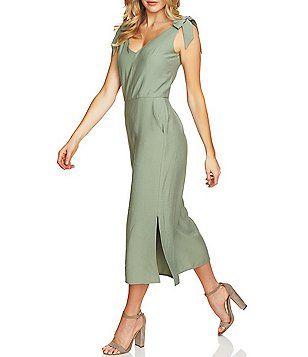 2f709517948 CeCe Tie Shoulder Culotte Jumpsuit