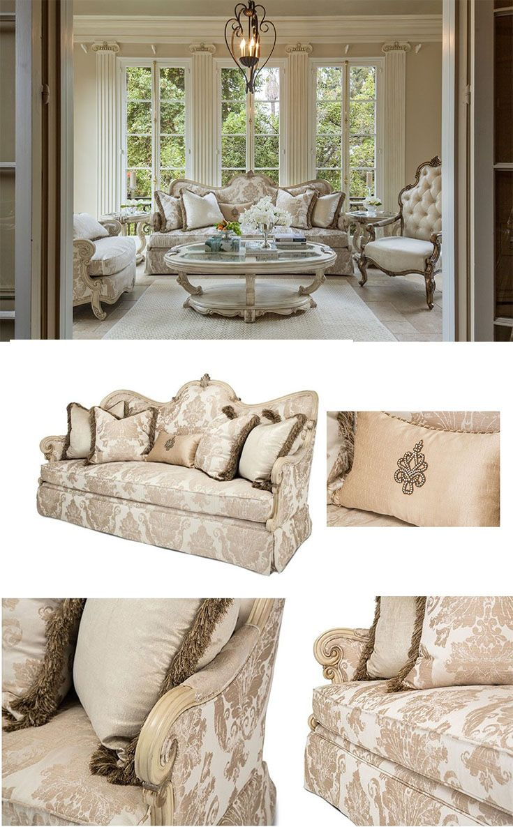 Aico Platine de Royale Living Room Collection in CHAMPAGNE | Modern ...