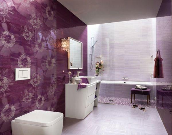 Badezimmer Deko Lila