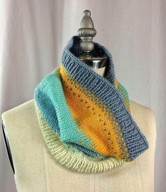Ravelry: Ombré Quintet pattern by Wendy S. Baker   Neck knits ...
