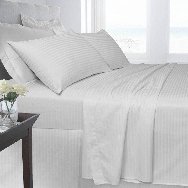 Hotel Satin Stripe Duvet Cover Set Striped Duvet Covers Bed White Linen Bedding