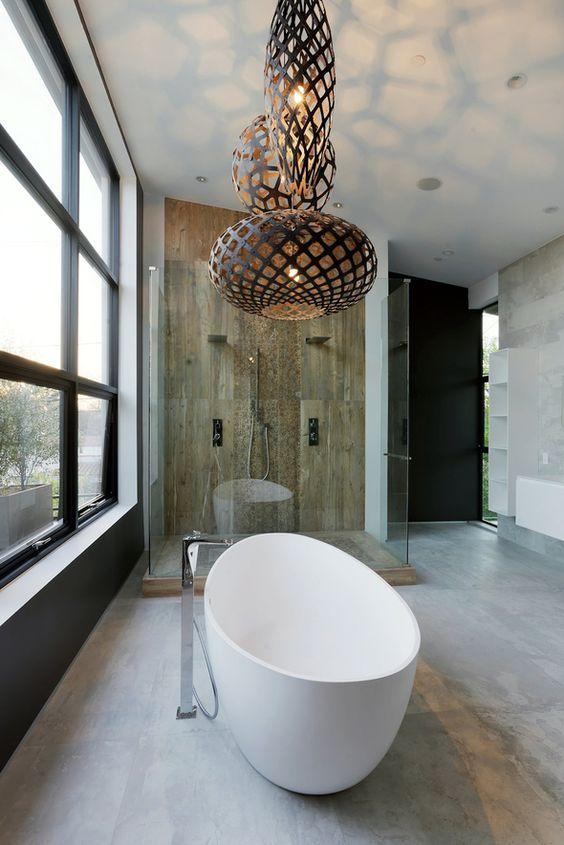 Pendant Light Over Bath Modern Bathroom Lighting Bathroom Lighting Condo Interior Design