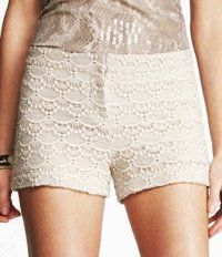 Scalloped Lace Crochet Shorts