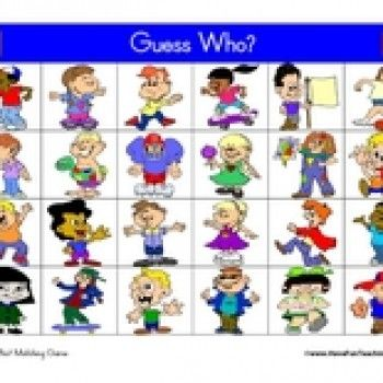 graphic regarding Guess Who Cards Printable identified as Pin upon Adjectives - SPI