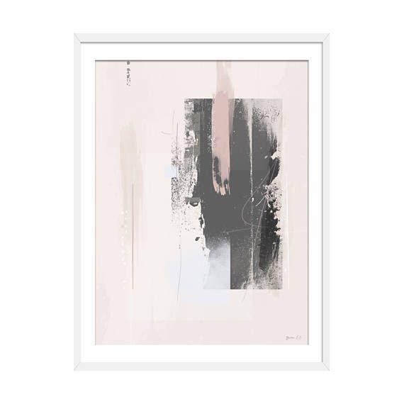 Abstract Print Abstract Art Grey Art Pink Art Blush Pink