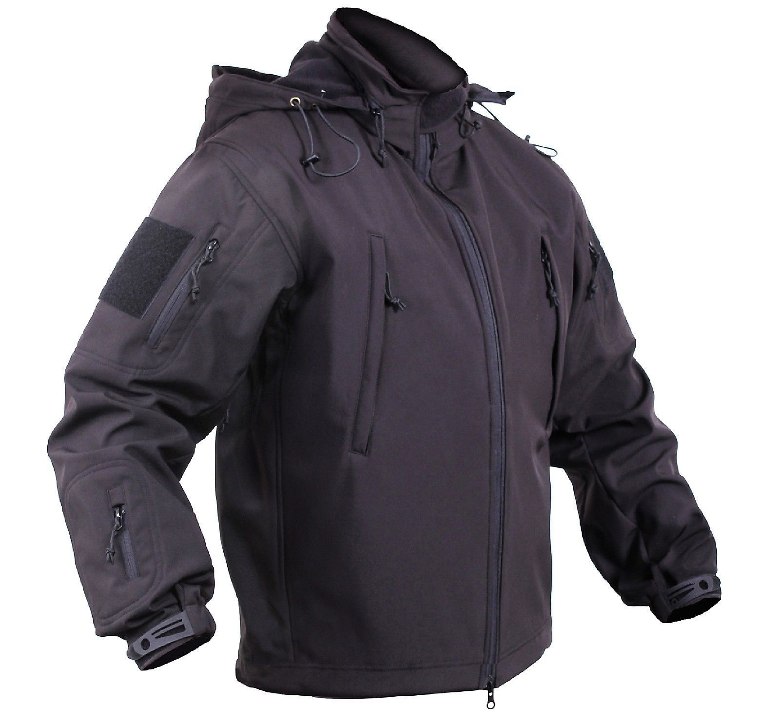 Men s Black Concealed Carry Soft Shell Tactical Jacket Waterproof Coat –  Grunt Force be809d613e4
