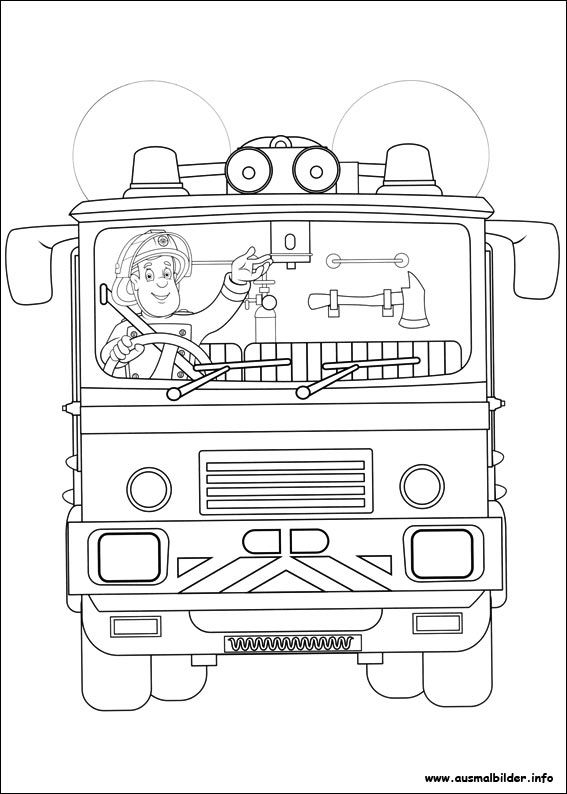 Feuerwehrmann Sam Malvorlagen Fireman Sam Coloring Pages For Kids Truck Coloring Pages