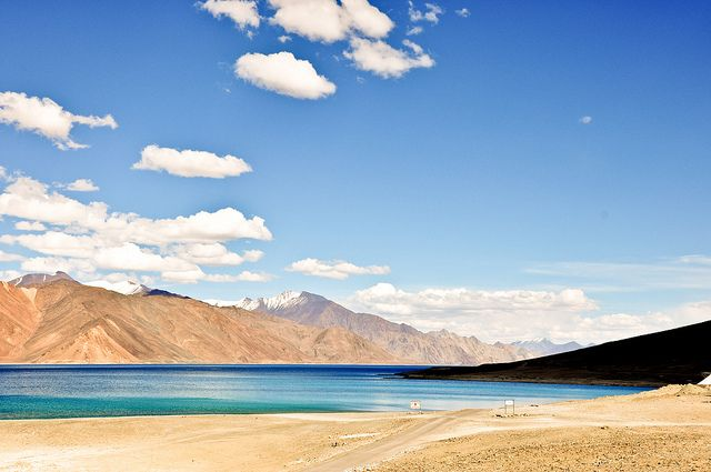 Pangong Tso Himalayas India Tibet China India Travel