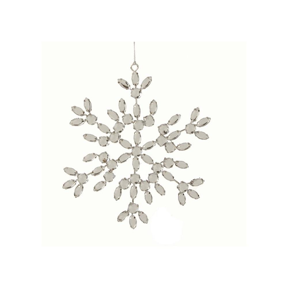 Raz Imports 6 Glamour Time Jeweled Snowflake Christmas Ornament Silver Silver Jewels Snowflakes Christmas Ornaments