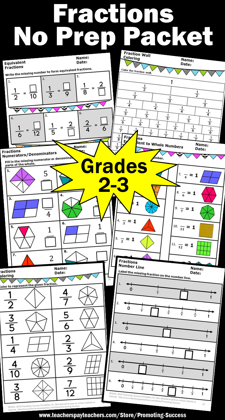 3rd Grade Math Fractions Worksheets No Prep Fractions On A Number Line And Pictorial Fract Fractions Worksheets Math Fractions Worksheets 3rd Grade Fractions [ 1344 x 720 Pixel ]